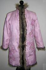 CHILDREN'S PLACE REVERSIBLE FAUX FUR BROCADE PINK COAT SIZE XL 14 EUC!