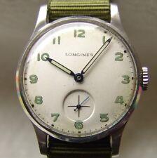 GOOD CONDITION interesting men's military LONGINES wristwatch WWII ERA