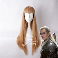 Legolas Greenleaf Wig Lord of the Rings Hobbit Elf Costume Halloween Cospaly Wig