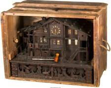 A Swiss Black Forest Musical Chalet Belle Vue Clock And Case, Late . Lot 65308