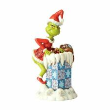 Dr. Seuss The Grinch Climbing in Chimney Collectors Figurine - Boxed Christmas