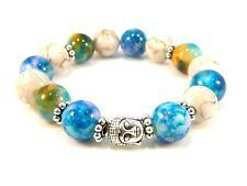 Buddha Beaded Beads Bracelet Marble Finish Bangle Yoga Charm Bracelets