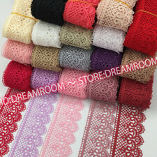 BF85 1 Yards Lace Trim Ribbon For Dress Skirt Embroidered DIY Sewing Handicraft