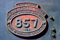 PHOTO  SOUTH AFRICAN RAILWAYS - A CLOSE-UP SHOT OF THE NUMBER PLATE OF 16E CLASS
