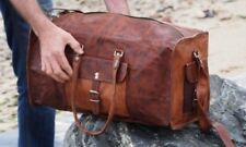 """Bag Vintage Leather Duffle Travel Men Gym Luggage S Weekend Real Overnight 25"""""""