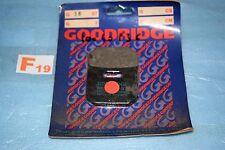 2 plaquettes de frein avant GOODRIDGE Suzuki RG 80 GAMMA 88/93 / 125 GAMMA 85/91