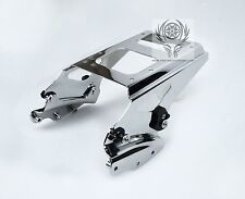 4 Point Docking Hardware Chrome Two Up Tour Pak Rack for Harley Touring 09-13