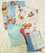 Winnie the Pooh 4 Piece Twin Sheet Set Flat Fitted 2 Pillowcases Disney