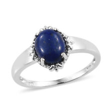 Lapis Lazuli Sterling Silver Ring (Size 8.0) 3.60 ctw