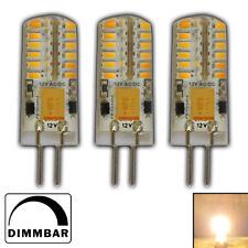 3x G4 LED 3 Watt 12V~ AC/DC warmweiß 48 SMD Wechselspannung Glühbirne Birne A+