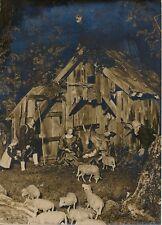 BAVIÈRE c. 1955 - Crèche de Noël en Bois Sculptée Fuessen - PR 1107