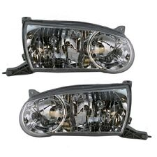 2001 2002 TOYOTA COROLLA HEADLIGHTS HEADLAMPS LIGHTS LAMPS PAIR