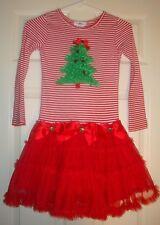 RARE/EDITIONS~girl's~CHRISTMAS/TREE/RUFFLED/BOTTOM/DRESS! (6/X) REALLY/CUTE! @@