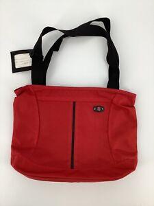 Victorinox Red Swiss Army Tote Messenger Bag Weekender Shoulder Strap