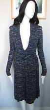 H&M - Blue Patterned - Wrap Front, Mini Dress Size S Uk Euro S