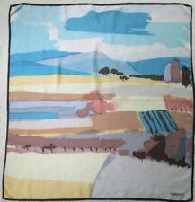 -Foulard TORRENTE  soie  TBEG  vintage  Scarf  83 x 88 cm