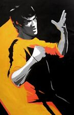 Bruce Lee 28x16 Oil Painting,NOT print or poster,framing avail. Jiu Jitsu Dragon