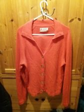 womans pink Pringle 100% Cashmere cardigan size 12