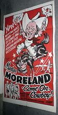 COME ON COWBOY original 1948 27x41 one sheet movie poster MANTAN MORELAND