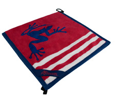 Frogger Golf Wet and Dry Amphibian Towel Red White Blue Brand New Towels