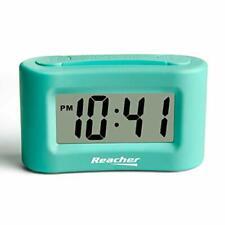 Reacher Mini Battery Operated Alarm Clock - Simple Basic Operation, Snooze,