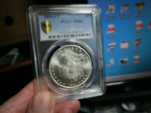 FANTASTIC 1884-CC MORGAN SILVER DOLLAR  PCGS  MS-66  AN ALL WHITE SPARKLER