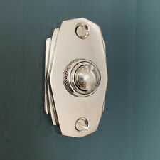 CHROME ART DECO STYLE DOOR BELL PUSH DOORBELL KNOCKER HANDLES KNOBS