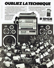 Publicité Advertising 097  1979   Tensai   hi-fi  chaine prestige  ampli