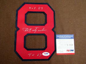 CARL YASTRZEMSKI HOF 89 TC 67 BOSTON RED SOX SIGNED AUTO JERSEY NUMBER PSA/DNA