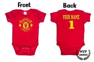 Manchester United F.C. Homemade baby bodysuit.