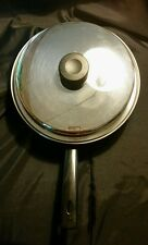"""Amway Royal 10"""" 3 ply 18/8 saute pan with lid. Made in USA. Amway Pan"""