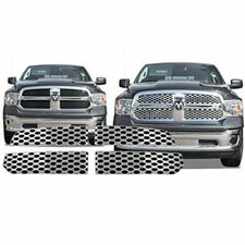 2013-2016 Dodge RAM 1500 Chrome Grill Grille Overlay Inserts