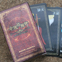 72 PCS Destiny Tarot Fortune Telling Cards Table Tour Games Fashion Toys Gifts