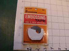 vintage Unused Dennison embossing tape BLACK 12 FEET duramatic
