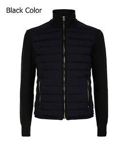 SPECTRE James Bond knitted sleeve bomber jacket Daniel Craig Bomber Jacket Black