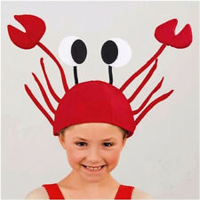1PC Red Crab Animal Hat Party Costume Props Headdress Adult Kids Cap Fun Gift