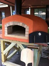 "Wood fired pizza oven 28"" x 31"" cooking surface."