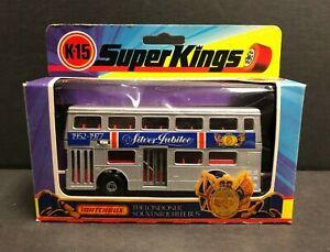 Vintage 1973 MATCHBOX SUPER KINGS The Londoner Jubilee Bus K-15 ~ beautiful box!