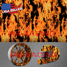 "19""x78"" Hydrographic Film Hydro Dipping Water Transfer Red Fire Flame #15"