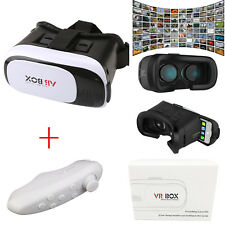 Universal 3D Virtual Reality VR BOX V2.0 Glasses Headset + Bluetooth Remote NEW