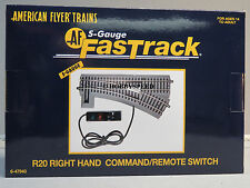 LIONEL AMERICAN FLYER FASTRACK R20 RIGHT COMMAND/REMOTE SWITCH S Gauge 6-47940