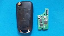 OPEL Astra H Zafira B Flip Remoto Clave Fob Con Chip En Blanco HU100 Desbloqueado