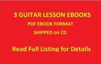 3 Guitar Lesson PDF E BOOKS Scales Lead Technique Licks Theory Rock Blues