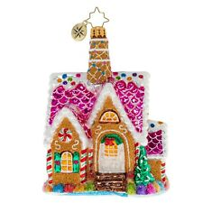 """Radko A Delectable Dwelling 5"""" 1020439 Gingerbread House Ornament"""