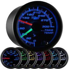 52mm GlowShift Black 7 Color Dual Intake Temp Intercooler Turbo Gauge GS-C720
