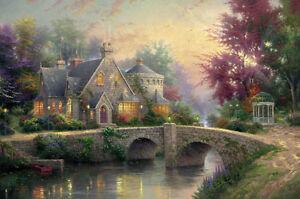 Lamplight Manor by Thomas Kinkade SN Limited Edition 24 X 36