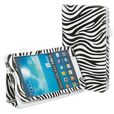 Zebra Print Cuero Soporte Funda Protectora Para Samsung Tab 3 8.0 8 Pulgadas T3100 T3110