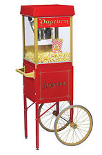NEW FUN POP 4 OZ. POPCORN MACHINE & MATCHING CART by GOLD MEDAL