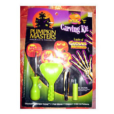 HALLOWEEN PUMPKIN MASTERS CARVING KIT w/ PATTERNS NEW