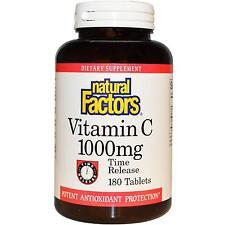 La Vitamina C - 180 - 1000mg tempo a rilascio prolungato da fattori naturali-Antiossidante
